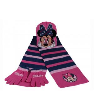Комплект шапка шарф рукавички МІННІ МАУС 00444