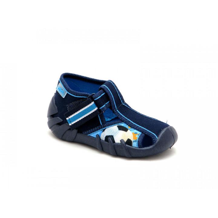 Взуття для дітей БЕФАДО -Текстильні дитячі тапочки на хлопчика Befado 190P080