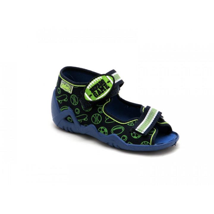 БЕФАДО - Обувь детская купить - Детские текстильные сандалии на мальчика Befado 250P070