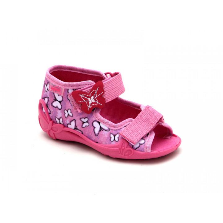 БЕФАДО - Детская обувь - Текстильные детские сандалии для девочки Befado 242p091