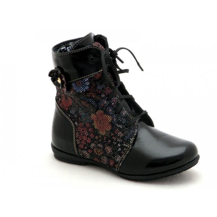 Купить детские демисезонные ботинки для девочки Берегиня 1320 ситец