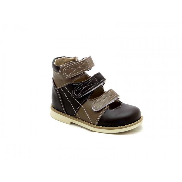Купить детские ортопедические туфли для мальчиков Берегиня 1405 коричневый