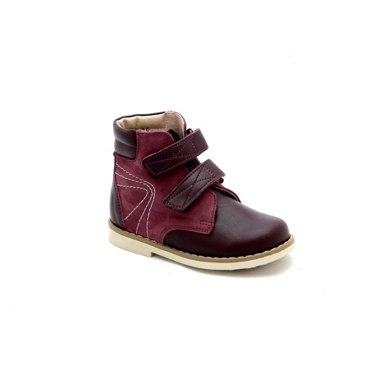 Купити дитячі профілактичні черевики для дівчинки Берегиня 1113 бордо