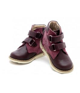 Профилактические ботинки для девочки Берегиня 2713 бордо (18-22р.)