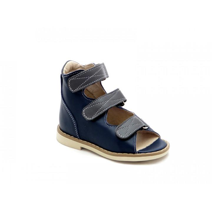 Берегиня детская обувь - Детские ортопедические сандалии на мальчиков Берегиня 0802 синий