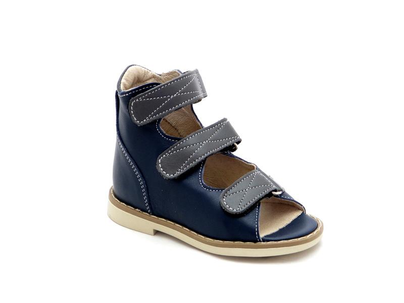 Берегиня дитяче взуття - Купити дитячі ортопедичні шкіряні сандалі для  хлопчиків 0802 синій f0c944a31d617