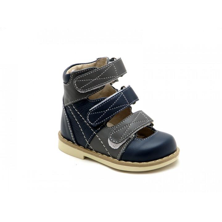 Купить детские ортопедические туфли для мальчиков Берегиня 2605 синий
