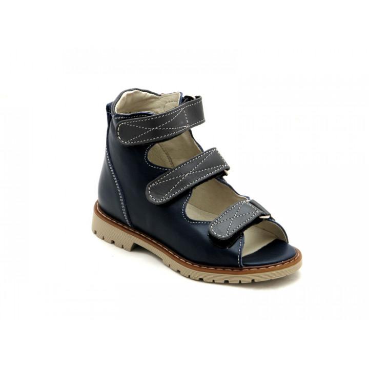 Берегиня детская обувь - Детские ортопедические сандалии на мальчиков Берегиня 0906 синий