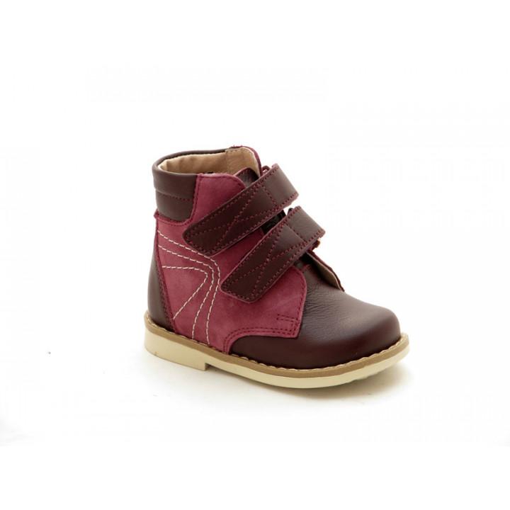 Купить детские профилактические ботинки для девочек Берегиня 2713 бордо