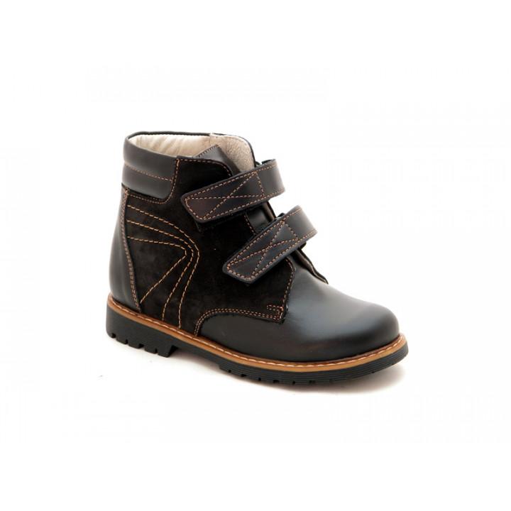 Купить детские профилактические ботинки для мальчиков Берегиня 1313 черный