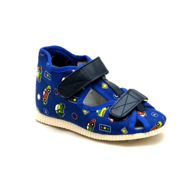 Купити дитячі ортопедичні тапочки для хлопчиків Берегиня 0224 т-синій