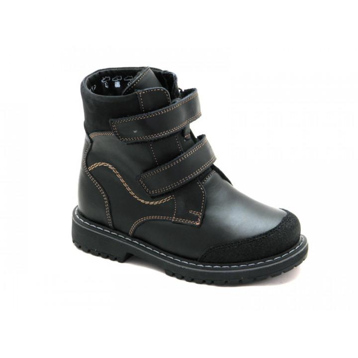 Купить детские  ботинки для мальчика Берегиня 1344ЧК черный
