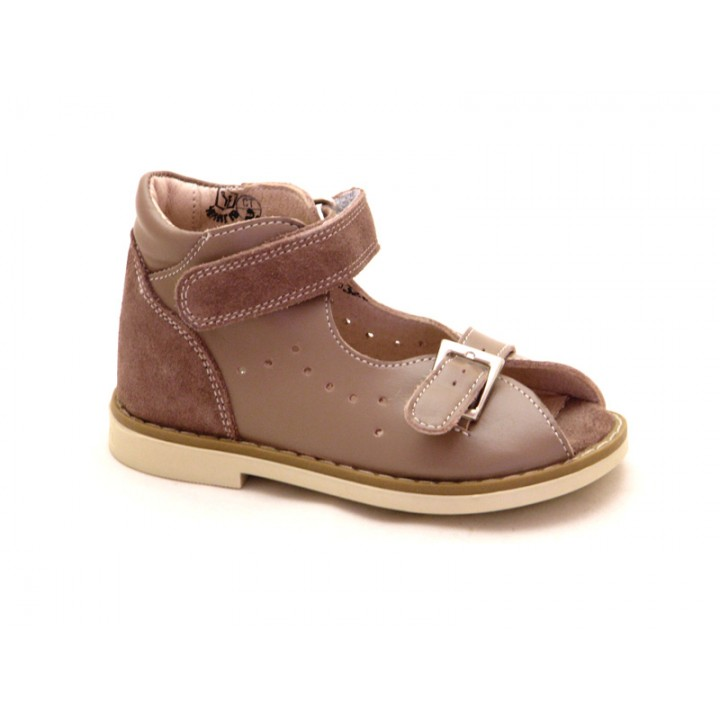 Купить ортопедические детские кожаные босоножкиБерегиня 0842