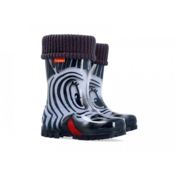 Дитяче взуття Демар - Купити чобітки гумові дитячі DEMAR TWISTER LUX PRINT 0038 зебра