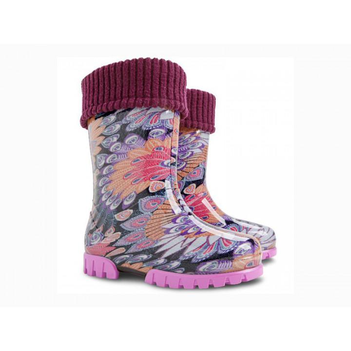 Дитяче взуття Демар - Купити чобітки гумові дитячі DEMAR TWISTER LUX PRINT 0039Ж