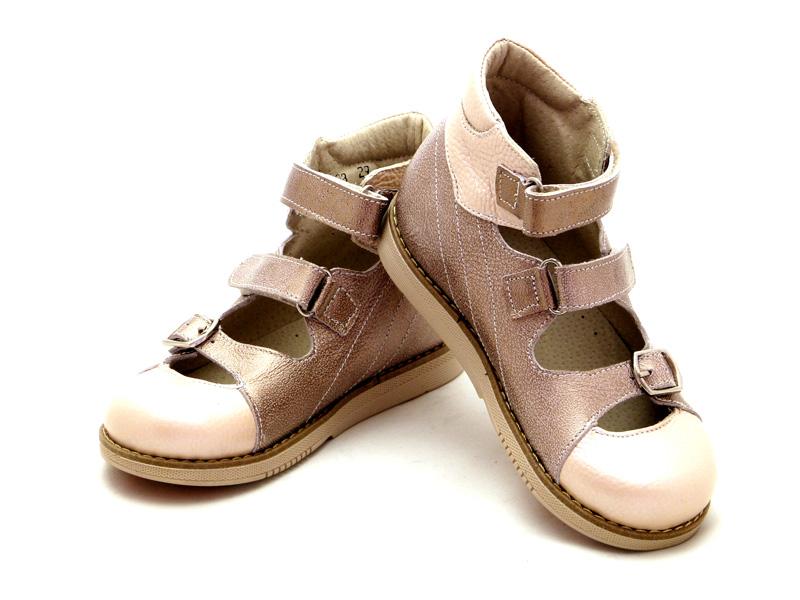 ECOBY дитяче ортопедичне взуття - Купити дитячі ортопедичні шкіряні туфлі  для дівчинки ЕКОБІ 108MIX1 bdf4dfade0499