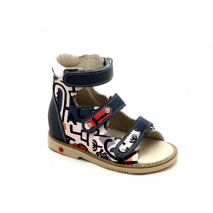 ECOBY дитяче ортопедичне взуття - Купити дитячі ортопедичні шкіряні сандалі для хлопчиків ЕКОБІ 002MIXG