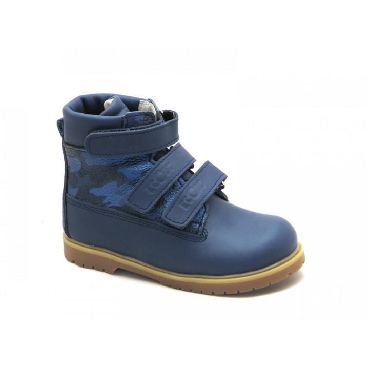 ECOBY дитяче ортопедичне взуття - Купити дитячі ортопедичні шкіряні зимові черевики для хлопчика ЕКОБІ 204Bmix