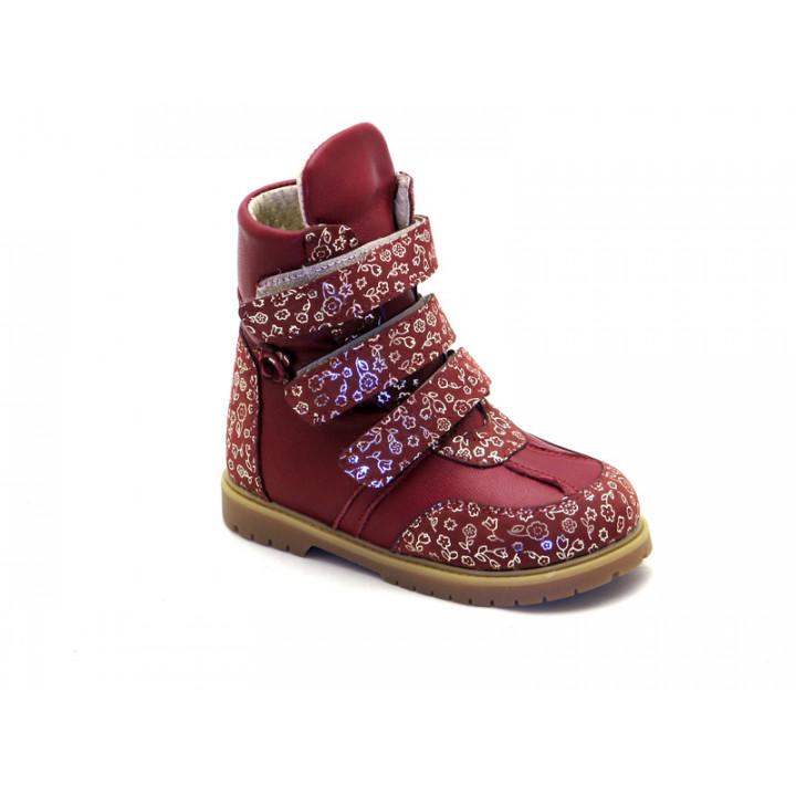 ECOBY детская ортопедическая обувь - Детские ортопедические зимние ботинки на девочку ЭКОБИ 211B