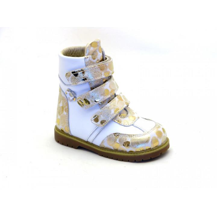 ECOBY детская ортопедическая обувь - Детские ортопедические зимние ботинки на девочку ЭКОБИ 211WZ