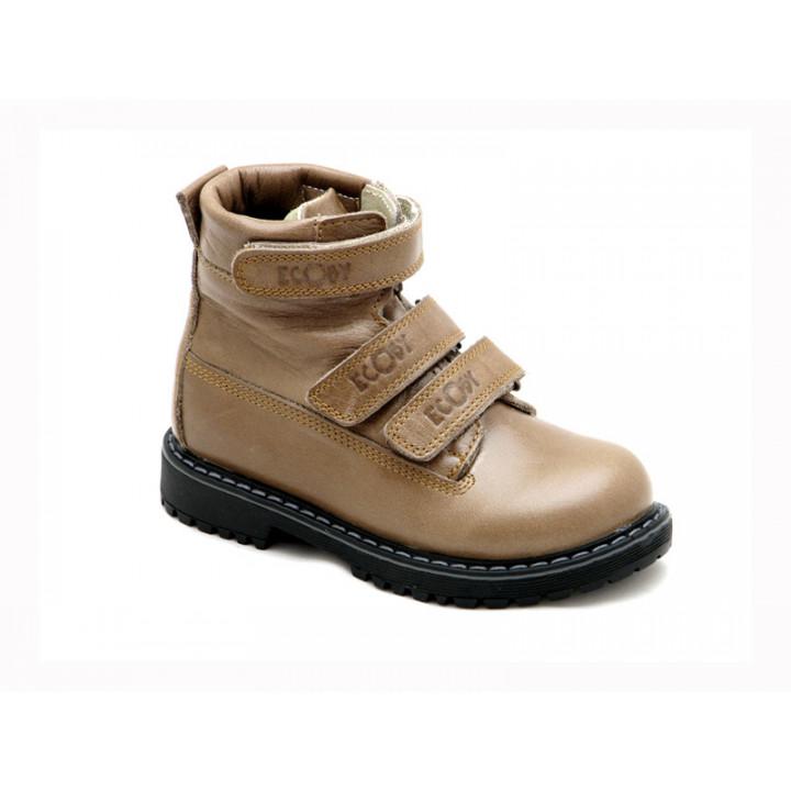 ECOBY детская ортопедическая обувь - Детские ортопедические демисезонные ботинки на мальчика ЭКОБИ 204-1BR