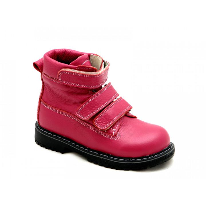 ECOBY детская ортопедическая обувь - Детские ортопедические демисезонные ботинки на девочку ЭКОБИ 204-1F