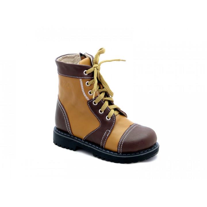 ECOBY - Купити дитячі ортопедичні шкіряні демісезонні черевики  ЕКОБІ 205CBR