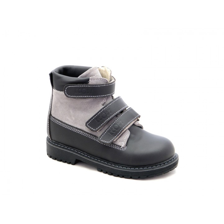 ECOBY - Купити дитячі ортопедичні шкіряні демісезонні черевики для хлопчика ЕКОБІ 204GV