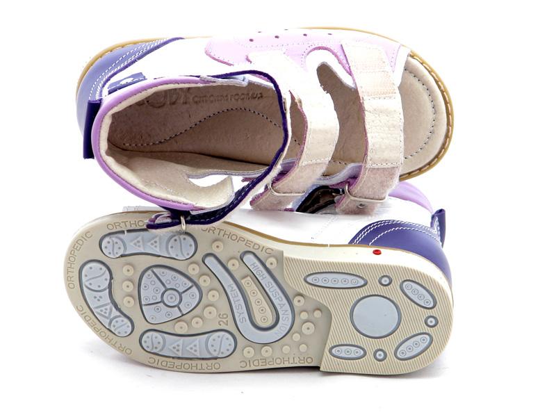 ECOBY дитяче ортопедичне взуття - Купити дитячі ортопедичні шкіряні сандалі  для дівчинки ЕКОБІ 024WV 31f11fa0ec914
