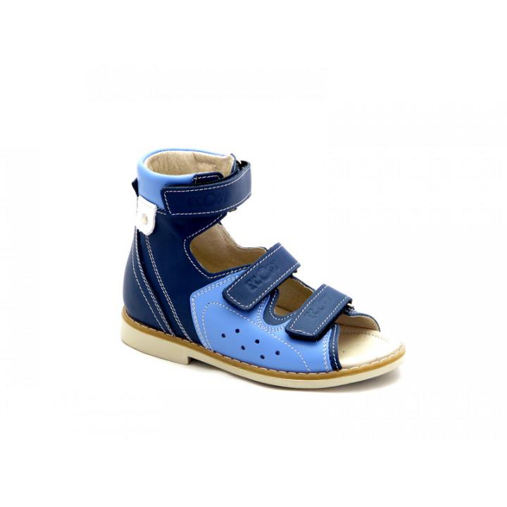 ECOBY дитяче ортопедичне взуття - Купити дитячі ортопедичні шкіряні сандалі  для хлопчиків ЕКОБІ 024B d458d834ce841
