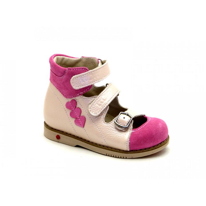 ECOBY дитяче ортопедичне взуття - Купити дитячі ортопедичні шкіряні туфлі  для дівчинки ЕКОБІ 108PV 2ebe927d5bb94