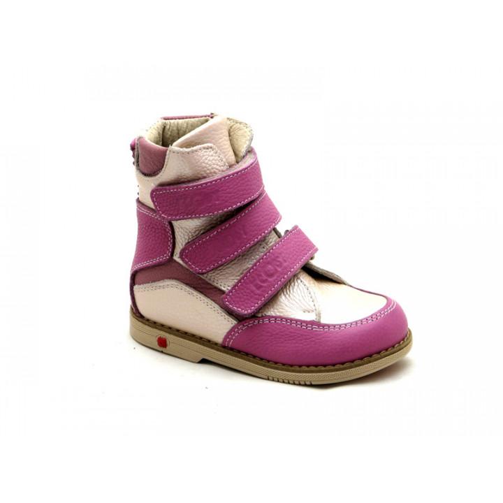 ECOBY дитяче ортопедичне взуття - Купити дитячі ортопедичні шкіряні  демісезонні черевики для дівчинки ЕКОБІ 210LP 1307f83edc989