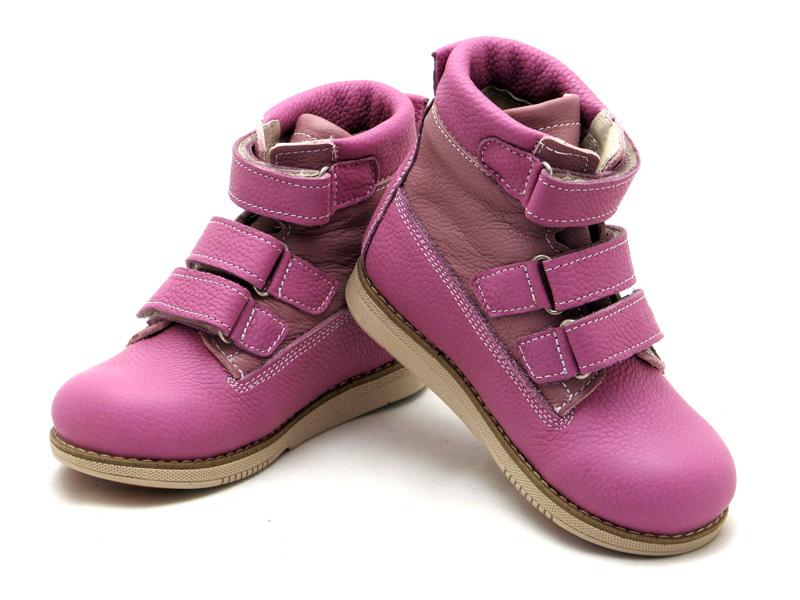 ECOBY дитяче ортопедичне взуття - Купити дитячі ортопедичні шкіряні  демісезонні черевики для дівчинки ЕКОБІ 204LP 75aade3d64805