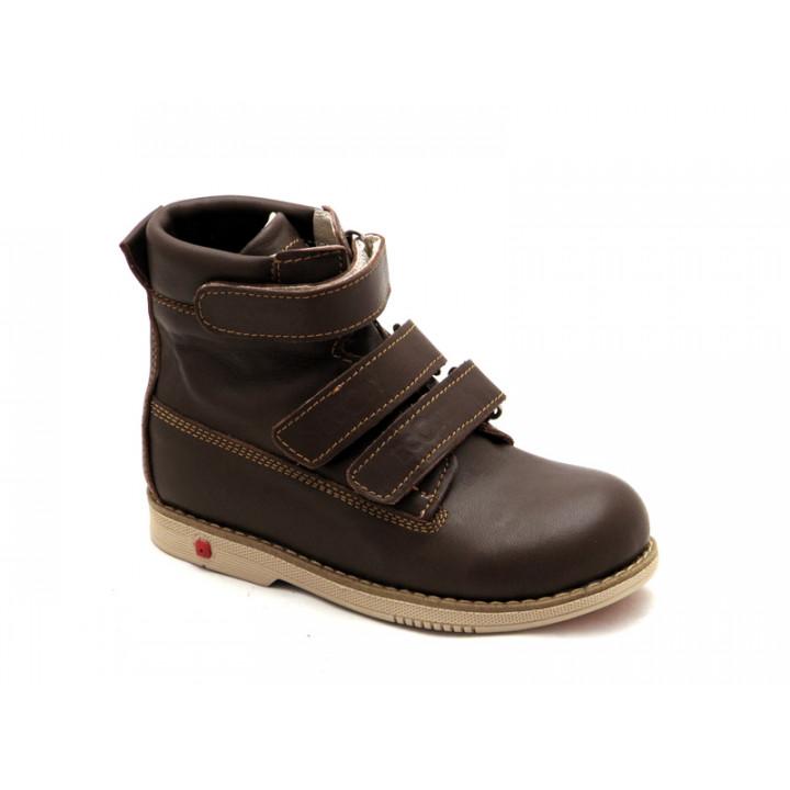 ECOBY дитяче ортопедичне взуття - Купити дитячі ортопедичні шкіряні  демісезонні черевики для хлопчика ЕКОБІ 204BR 8e4ae4a367678