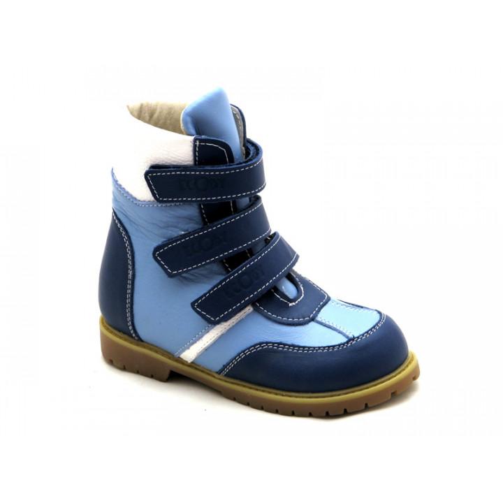 ECOBY дитяче ортопедичне взуття - Купити дитячі ортопедичні шкіряні зимові черевики для хлопчика ЕКОБІ 211BB