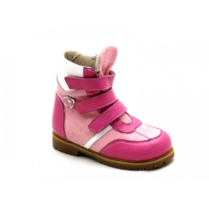 ECOBY дитяче ортопедичне взуття - Купити дитячі ортопедичні шкіряні зимові черевики для дівчинки ЕКОБІ 211LP