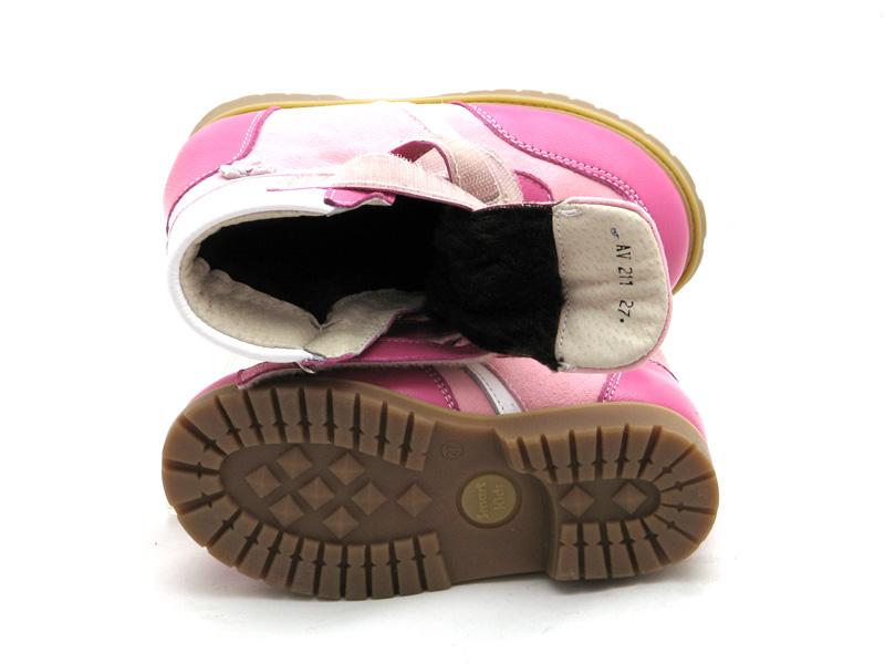 ECOBY дитяче ортопедичне взуття - Купити дитячі ортопедичні шкіряні зимові  черевики для дівчинки ЕКОБІ 211LP 9dea0713c838d