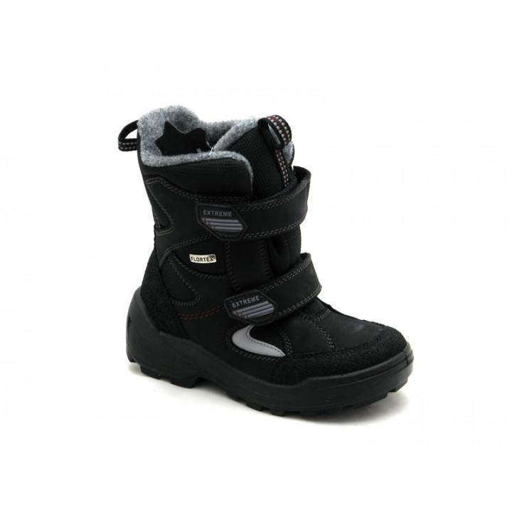 Floare  - Детская обувь | Черные зимние ботинки мембранные для мальчика Floare 3901490530
