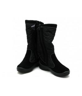 Чорні мембранні чобітки для дівчат  FLOARE 2424550530 (33-37,5р.)