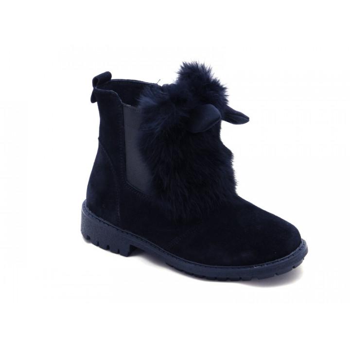 Зимние ботиночки для девочки МАЛЬВЫ Ш403О -синий