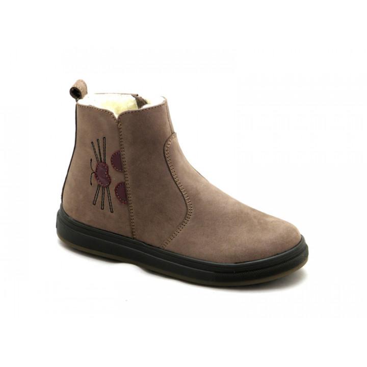 Зимние ботиночки для девочки МАЛЬВЫ Ш-433 Коричневый