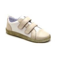 Стильные кожаные кеды для девочек Мальвы Ш437 Беж (30-36р.)