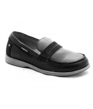 Шкільні чорні туфлі для хлопчика Palaris 2359 (32-35р.)