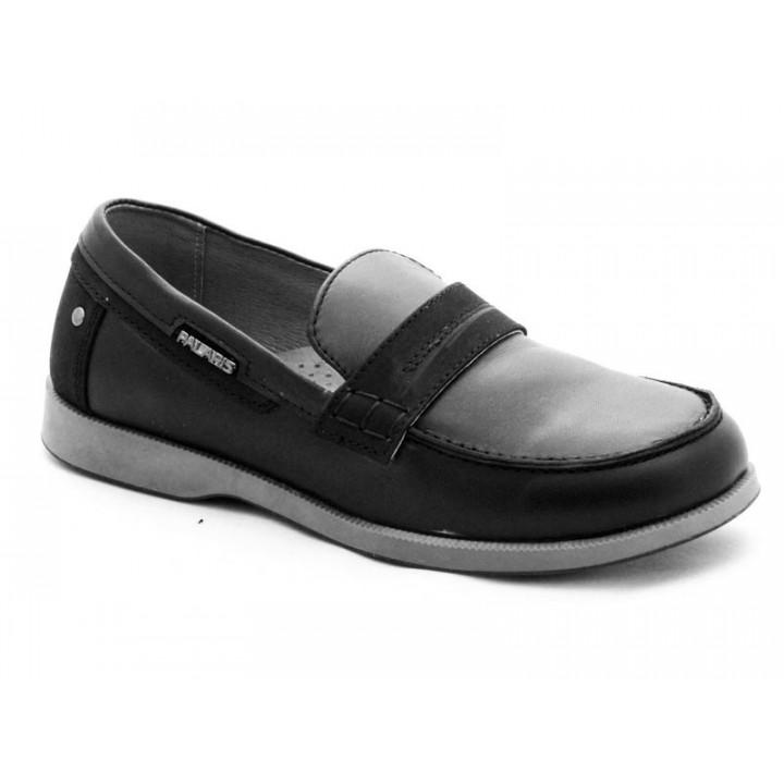 Купити шкіряні стильні туфлі для хлопчиків  Palaris 2359 чорний