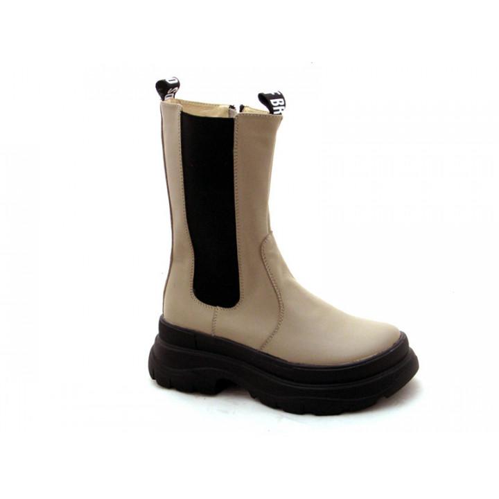 Купити демісезонні шкіряні черевики для дівчат N-Style 0152