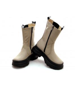 Стильні шкіряні черевики для дівчинки N-Style 0152 (32-38р.)