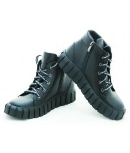 Стильні шкіряні черевики для дівчинки N-Style 078-9 (32-38р.)