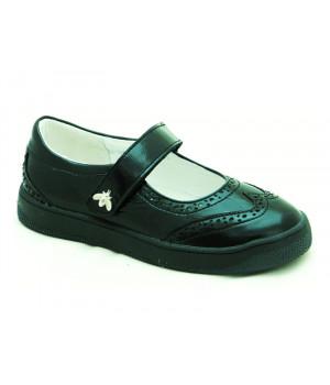 Стильні шкіряні туфлі для дівчат Мальви Ш502 Чорний (29-32р.)