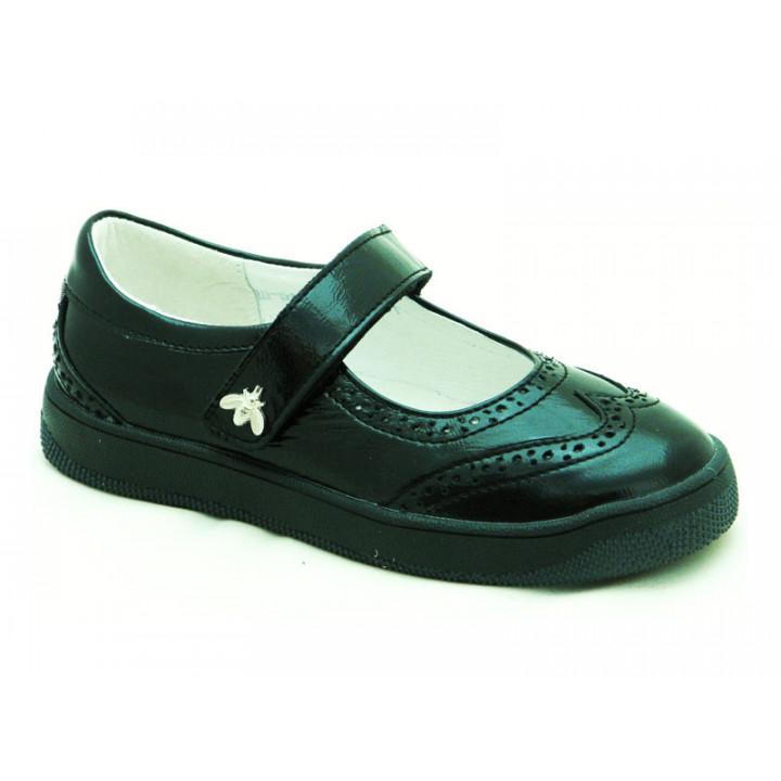 Шкіряні туфлі для дівчат Мальви Ш502 Чорний