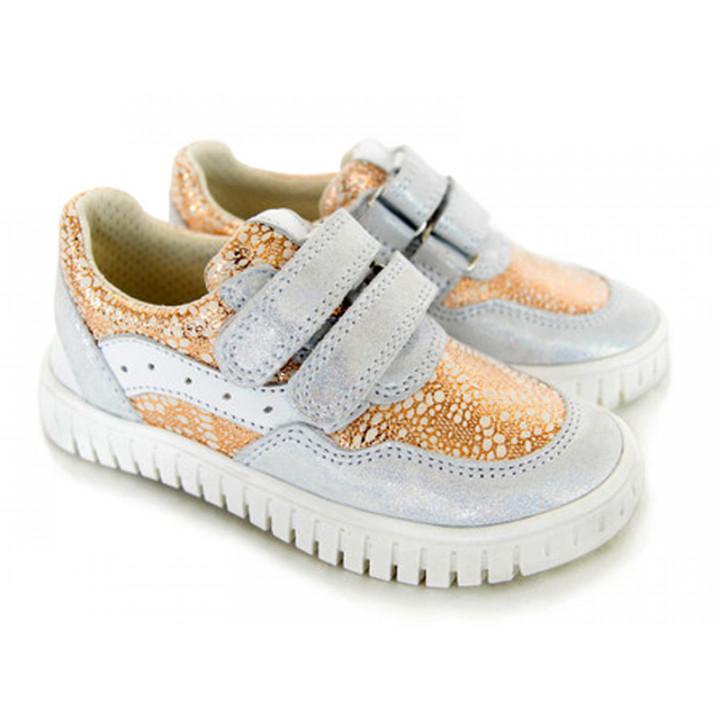 Шкіряні кросівки для дітей Мальви Д461 блиск